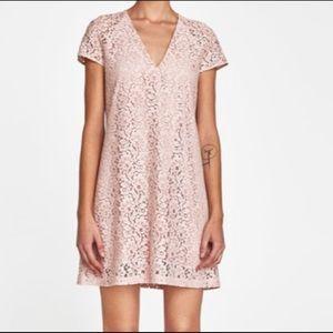 Zara Pink Lace Dress